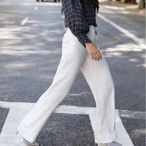 Something Navy white pleated pants NEW size 8